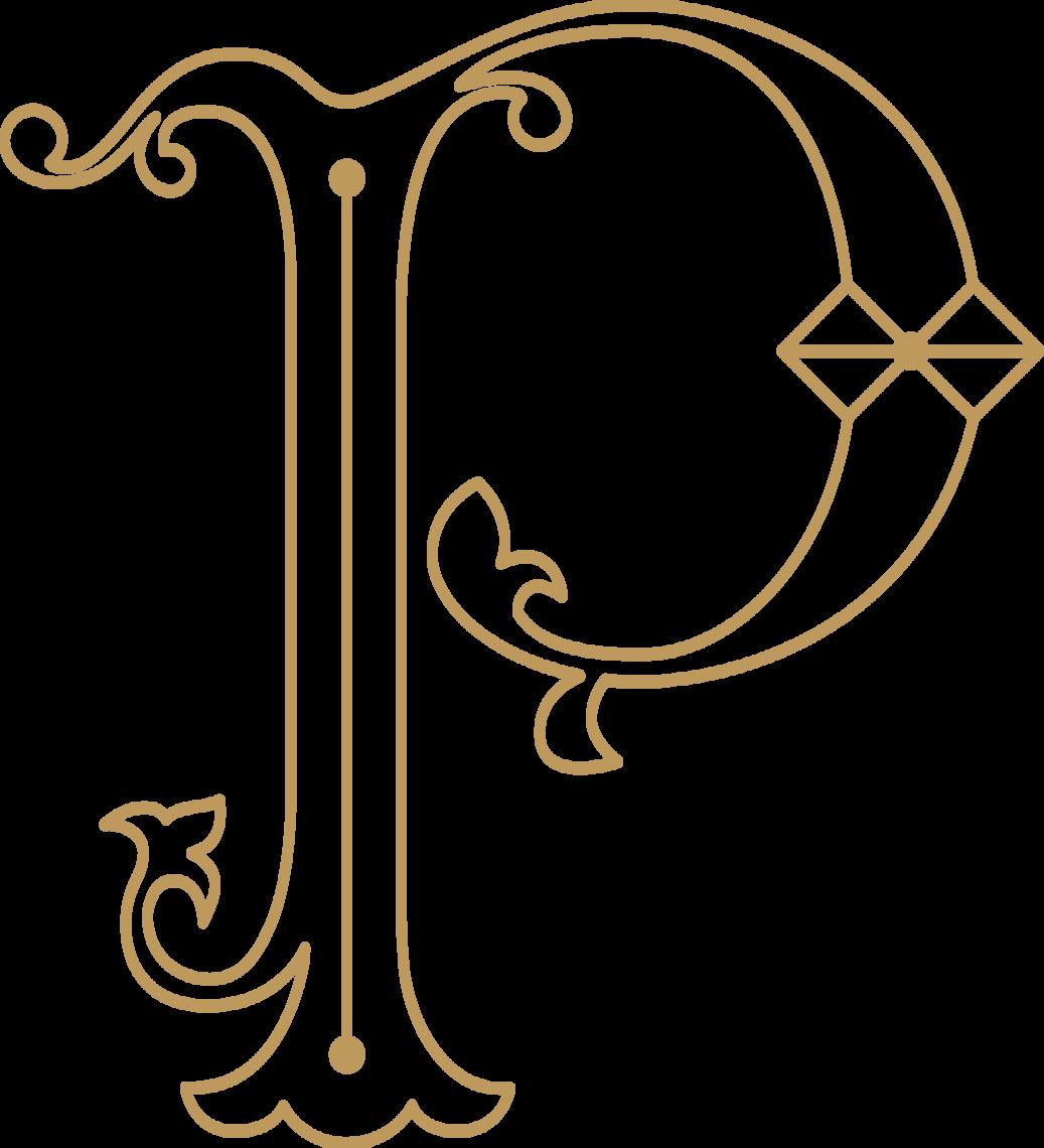 peacockroom monogram gold